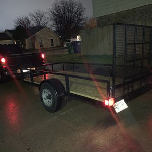 5x11 Homemade Utility Trailer W/ramp for Sale in The Colony, TX