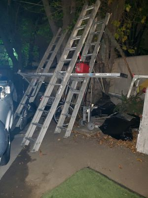 18 ft extension ladder and 20 ft extension for Sale in Anaheim, CA
