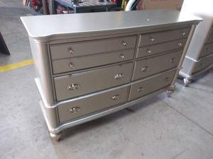 $499 Silver Dresser brand new free delivery same day for Sale in Miami Gardens, FL