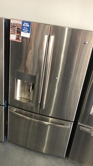 New GE 28 cu. Ft. 3 Door French Stainless Steel Refrigerator. Coffee maker, water & ice Dispenser 🔥 39$ Down for Sale in Houston, TX