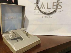 1/2 carat black white diamond earrings WG for Sale in Chicago, IL