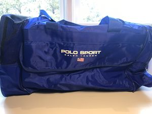 Polo sport Ralph Lauren vintage 90's gym workout bag blue duffle for Sale in Aurora, CO