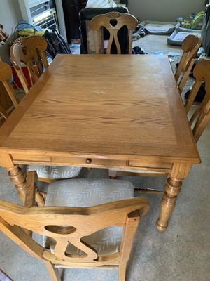 Solid oak kitchen table and chair set for Sale in La Vista, NE
