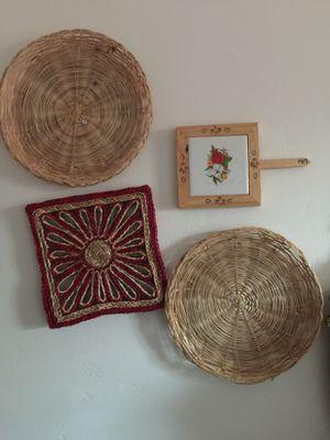 Boho basket wall hanging decor for Sale in Chula Vista, CA
