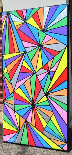 36x18 ORIGINAL SIGNED PAINTING. STRETCHED CANVAS AND READY TO HANG! for Sale in Cincinnati, OH