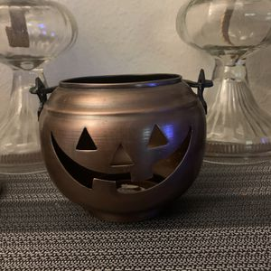 Metal Jack O Lantern Candle Holder for Sale in Tacoma, WA