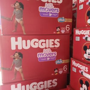 Huggies Little Movers Size 6/120 Diapers for Sale in Compton, CA
