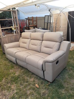 New Norma Beige Love Seat Sofa Recliner Couch for Sale in Whittier, CA