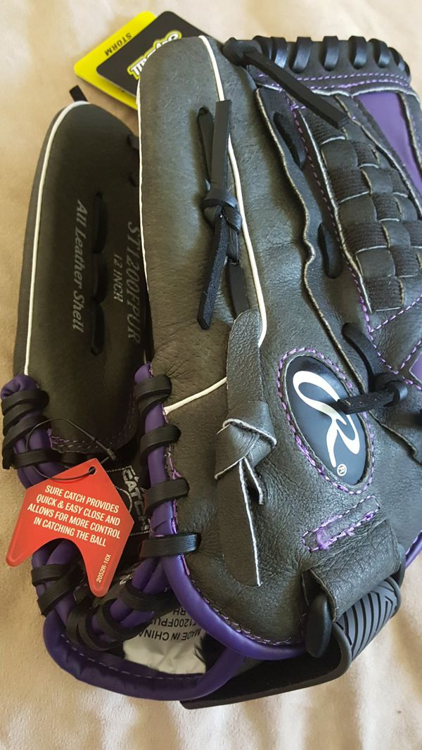 Rawlins 12 inch softball glove new