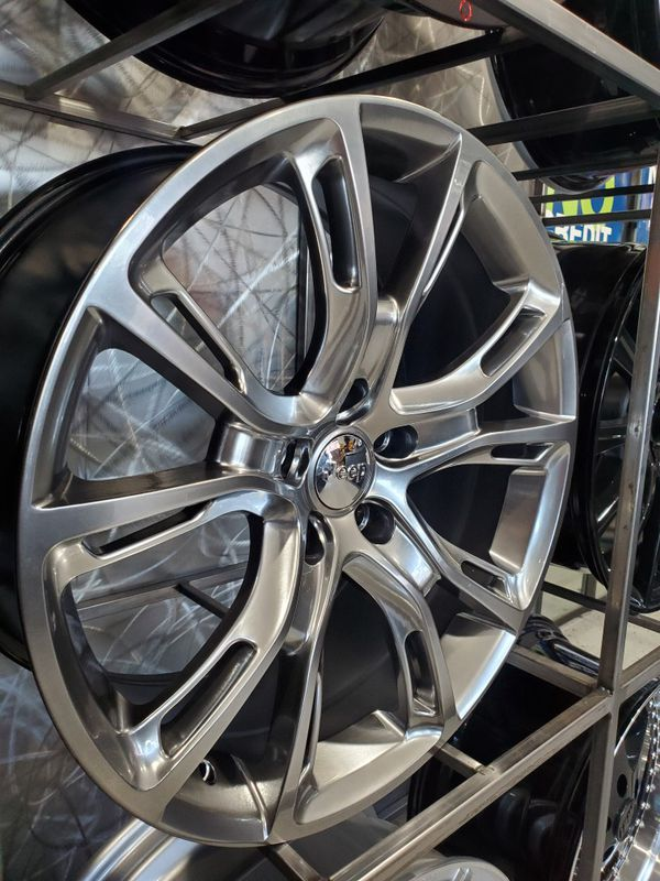 Jeep set wheels hyper black metallic 20x9 et35 5x127fits grand Cherokee rim wheel tire shop