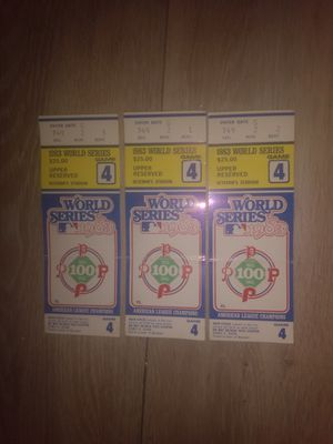 3 1983 World Series Tickets for Sale in Post Falls, ID
