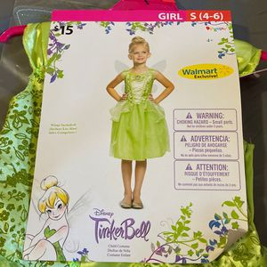 Toddle Costume, Tinker Bell, Size S (4-6) for Sale in Ontario, CA
