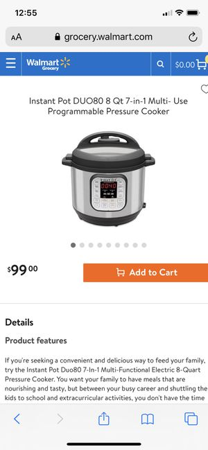 Instant Pot DUO80 7-In-1 Multi-Functional Electric 8QT Pressure Cooker for Sale in St. Cloud, MN