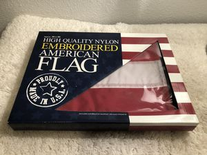 BRAND NEW 3 x 5 FT NYLON AMERICAN FLAG HOME OFFICE OR PATIO DECOR ❤️💙🇺🇸 for Sale in Tempe, AZ