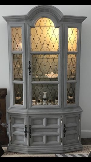 Antique hand painted china cabinet for Sale in Parkland, FL