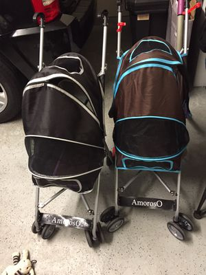 Gently used small dog strollers $60 each for Sale in Tampa, FL