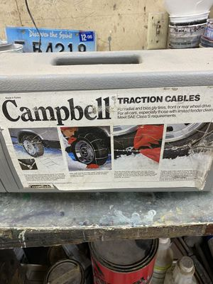 Campbell traction cables for radial tires with limited fender clearance for Sale in Graham, WA