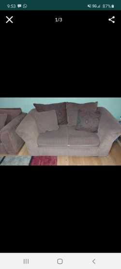 Sealy sofa couches two seater and three seater with a pull out bed for Sale in Philadelphia,  PA