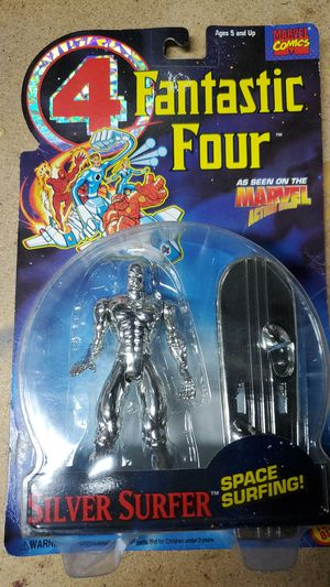 Silver surfer action figure by toy biz for Sale in Brentwood, CA