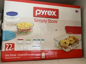 Pyrex 22 piece Glass set (new) for Sale in Moreno Valley, CA