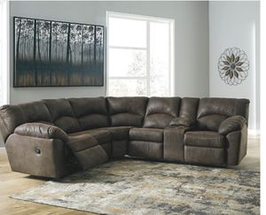 Ashley furniture brown leather sectional for Sale in Wichita Falls, TX