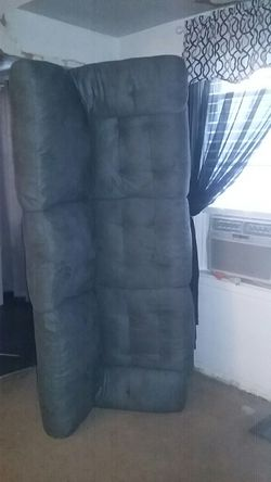 Grey suede couch for Sale in Pittsburgh,  PA