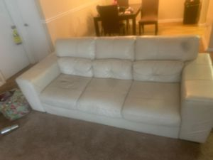 White leather couch, for Sale in Aloma, FL