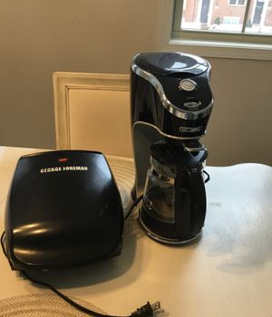 Coffee latte maker and grill in great working condition for Sale in Silver Spring, MD