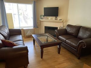 Leather couch set AND coffee table for Sale in Seattle, WA