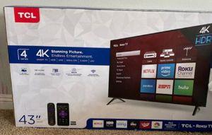 "43"" TCL ROKU TV 4K UHD SMART TV for Sale in Grand Terrace, CA"