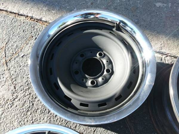 Chevy truck or van C10 Rally rims and beauty rings. 15 in