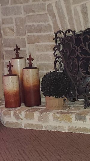 HOME DECOR: fleur de lis canisters for Sale in Frisco, TX