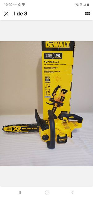 12 in. 20-Volt MAX Lithium-Ion Cordless Brushless Chainsaw (Tool Only) Firm price for Sale in Dumfries, VA