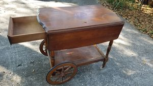 Antique leaf portable service table for Sale in Tampa, FL