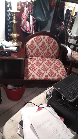 Old antique table and chair in one piece for Sale in Fresno, CA