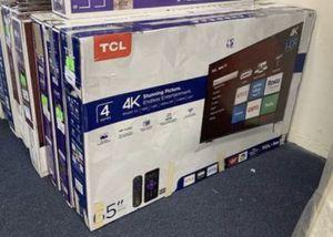 "65"" TcL roku smart 4K led uhd hdr tv for Sale in Orange, CA"