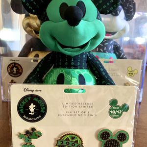 Disney Store Mickey Mouse Memories Collectible Plush And Pins for Sale in Burbank, CA