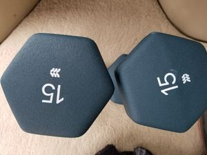 Brand New Pair of 15 lbs dumbells for Sale in Salinas, CA