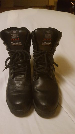 Texas Steer Sport men's insulated work boots size 12 black leather 10 inch height for Sale in Everett, WA