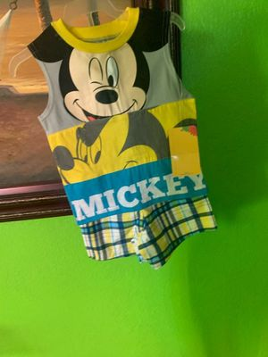 Mickey baby 2 piece shorts and shirt size 12 month's for Sale in Hesperia, CA