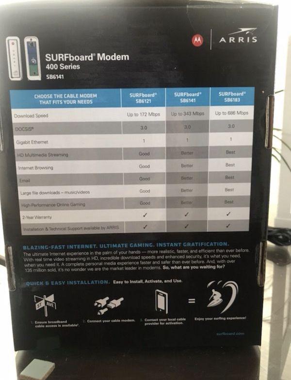 WiFi Modem & Router (Comcast)