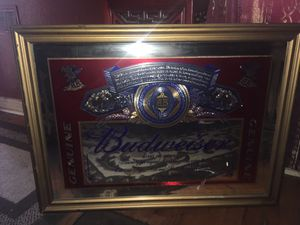 Large vintage BUDWEISER mirror for Sale in Fresno, CA