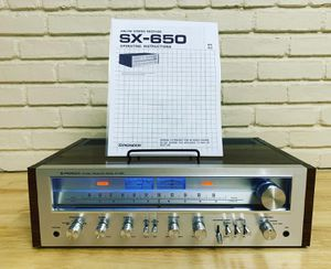 Vintage Pioneer SX-650 Stereo Receiver (serviced) for Sale in Levittown, NY