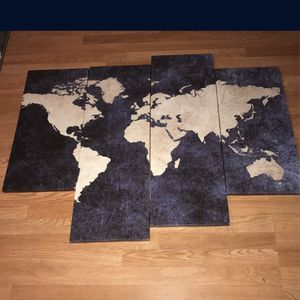 World Map Canvas(Damen&21st) for Sale in Chicago, IL