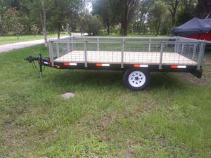 HM Trailer with folding sides for Sale in Riverview, FL