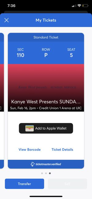 Kanye West SUNDAY SERVICE Chicago tickets February 16 , 2020 for Sale in Elk Grove Village, IL