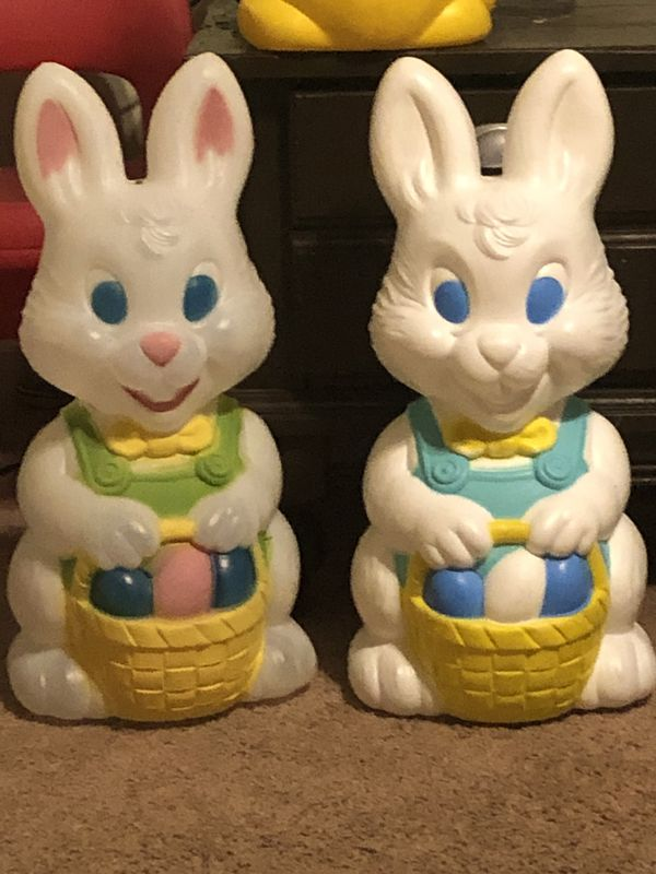 Easter bunny rabbit blow molds