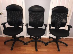 3 brand new high-back swivel/tilt executive office chairs for Sale in Washington, DC