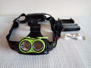Green Rechargeable T6 2 X LED Headlight for Sale in San Diego, CA
