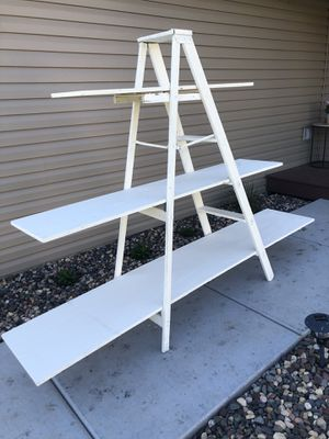 Rustic white ladder shelf for Sale in New Richmond, WI